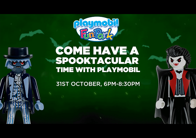 Playmobil Halloween Party Let's Have a Spooktacular Time! flyer