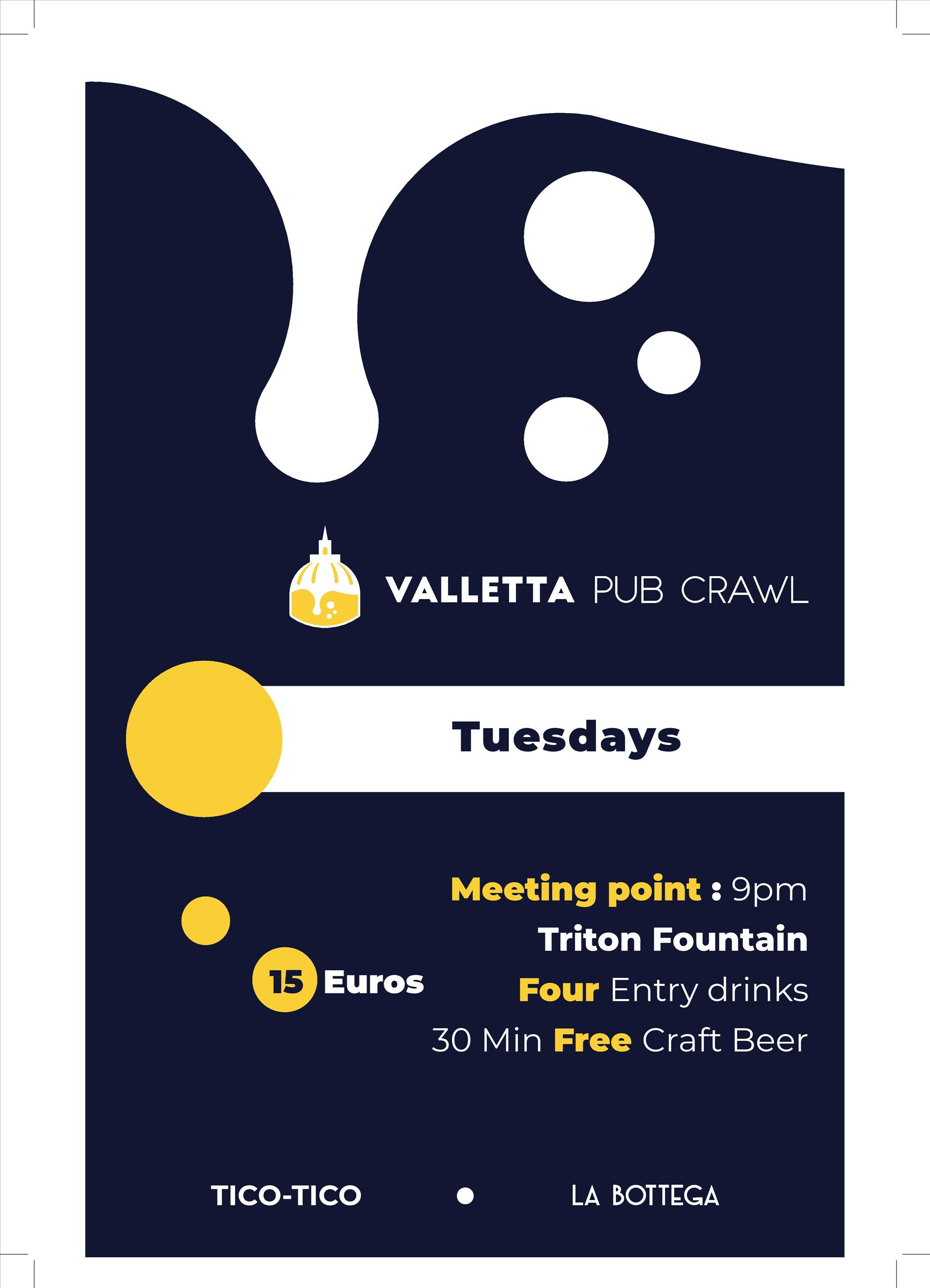 Valletta Pub Crawl flyer