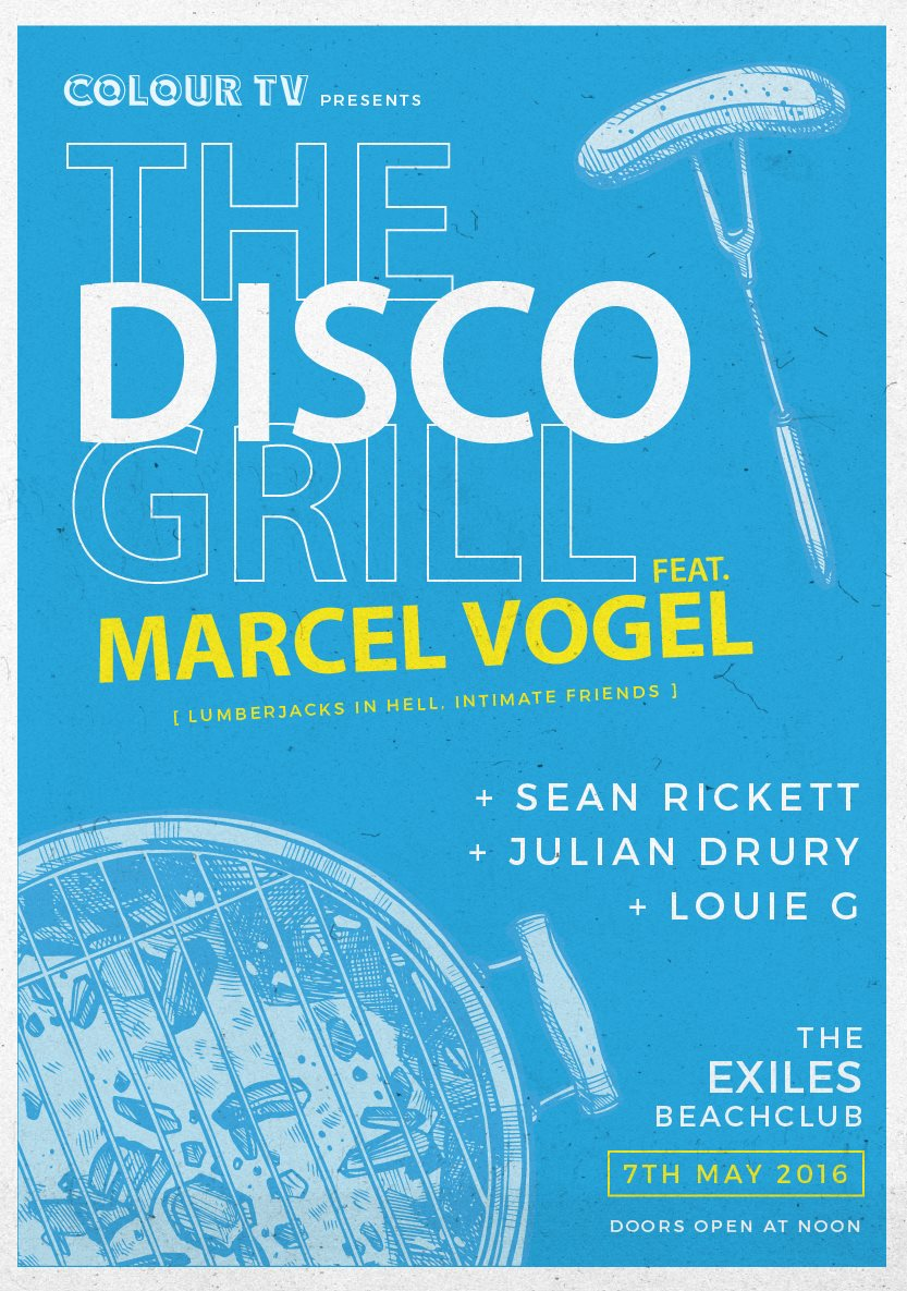 Colour TV - The Disco Grill feat. Marcel Vogel flyer