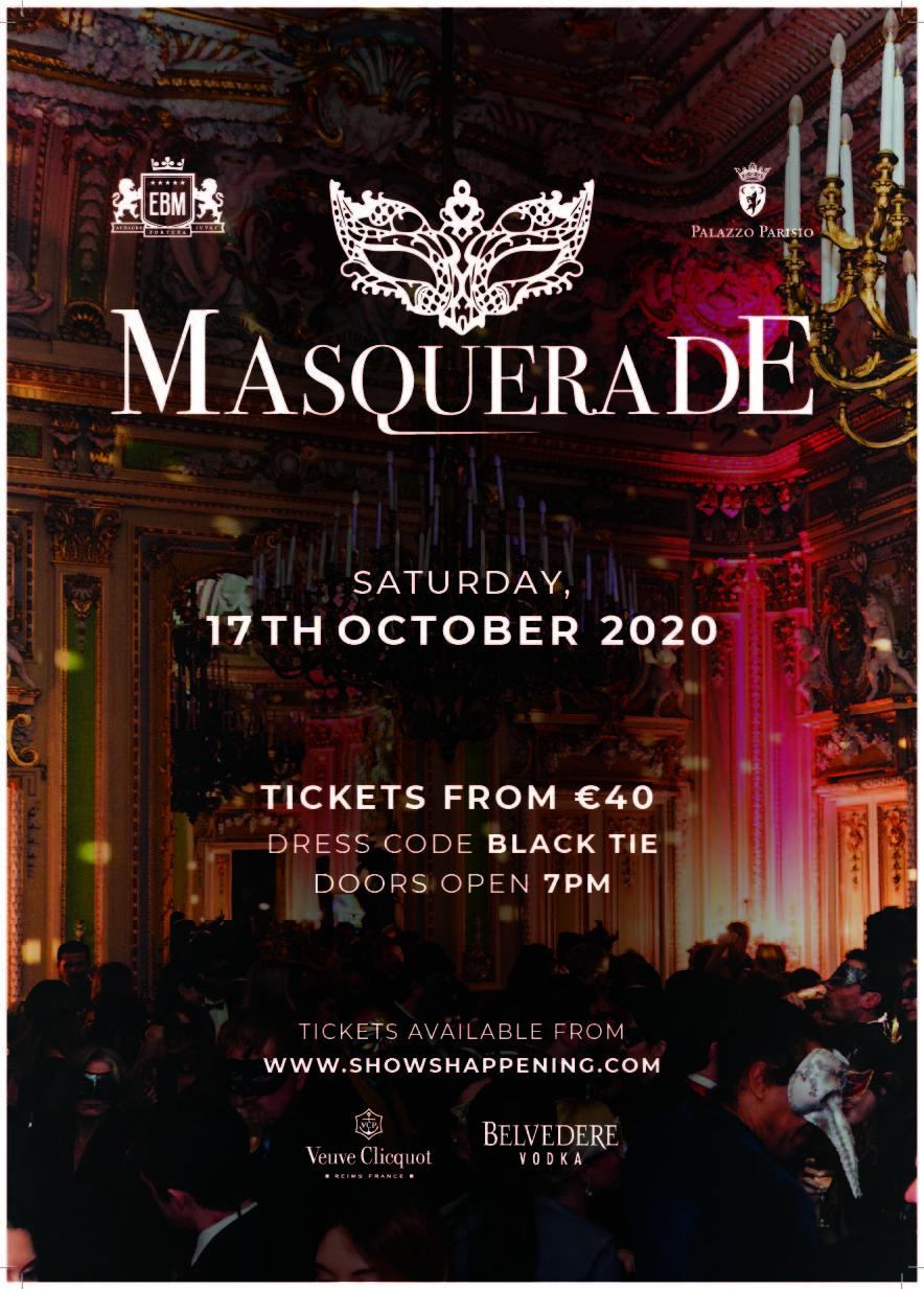 EBM Masquerade 2020 - Palazzo Parisio flyer