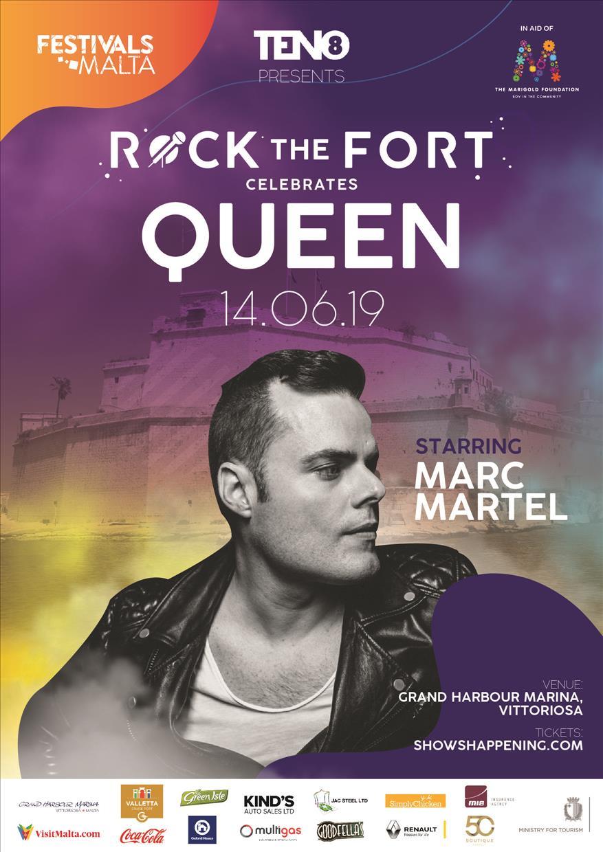 Rock The Fort celebrates QUEEN flyer