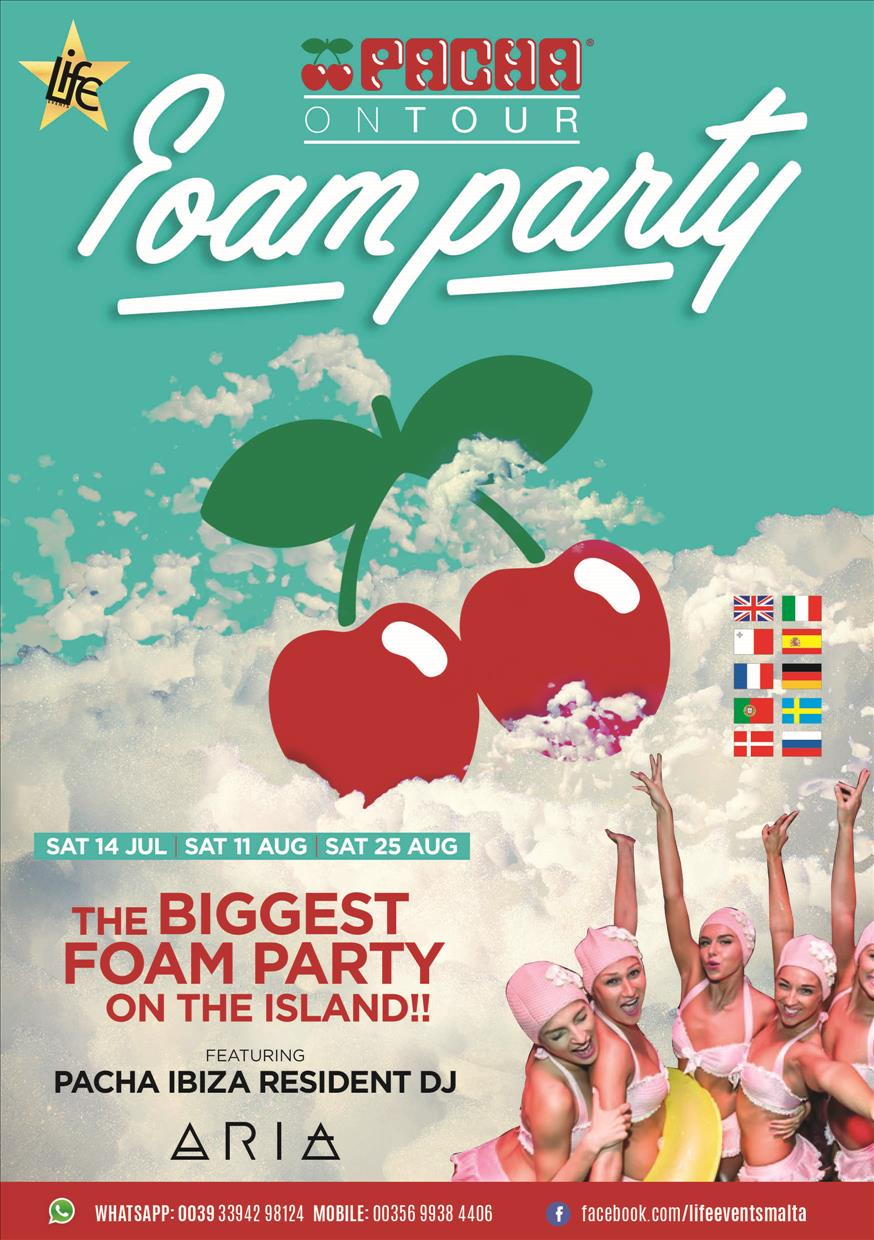 Pacha Foam Party By Life Events flyer