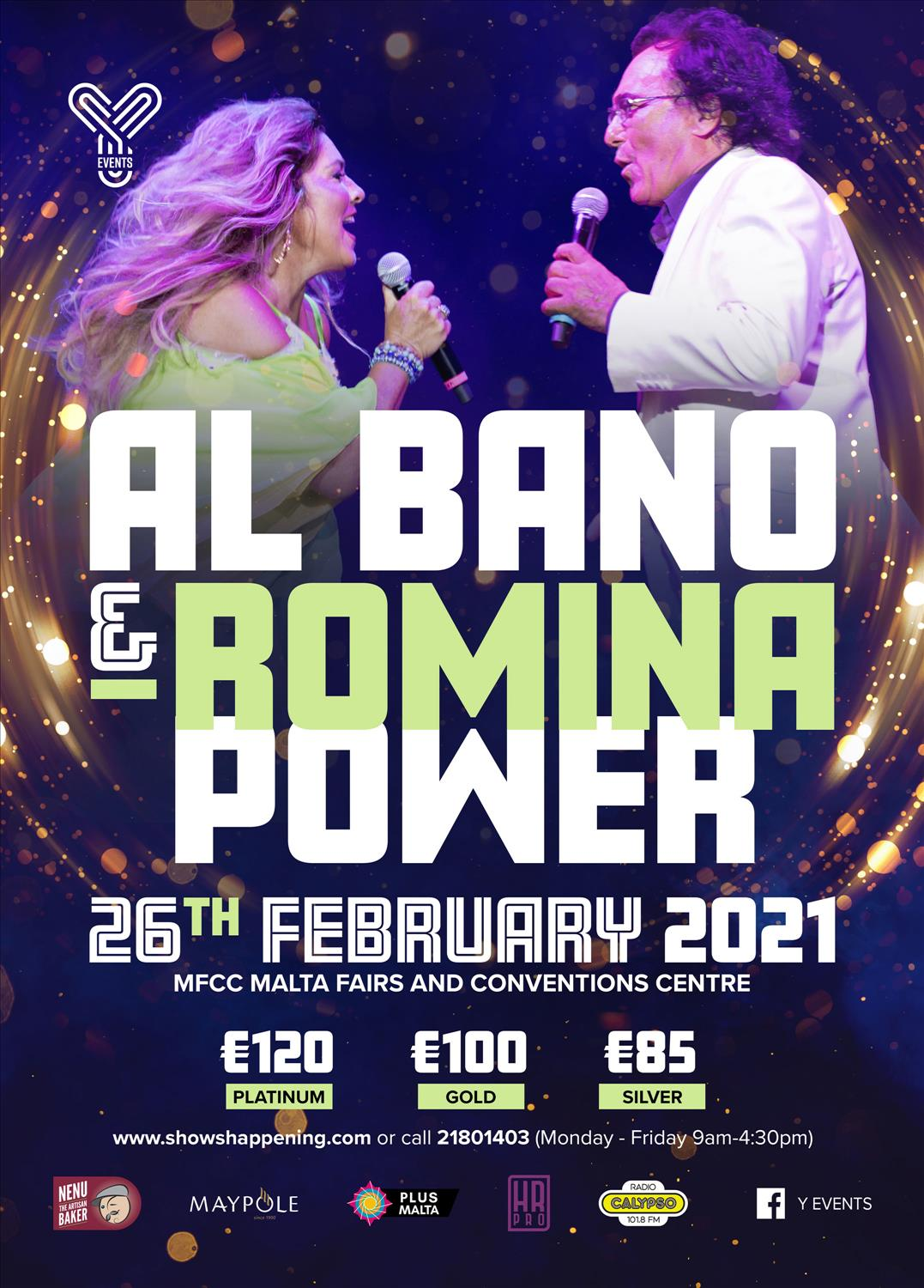 Al Bano and Romina Power in concert flyer