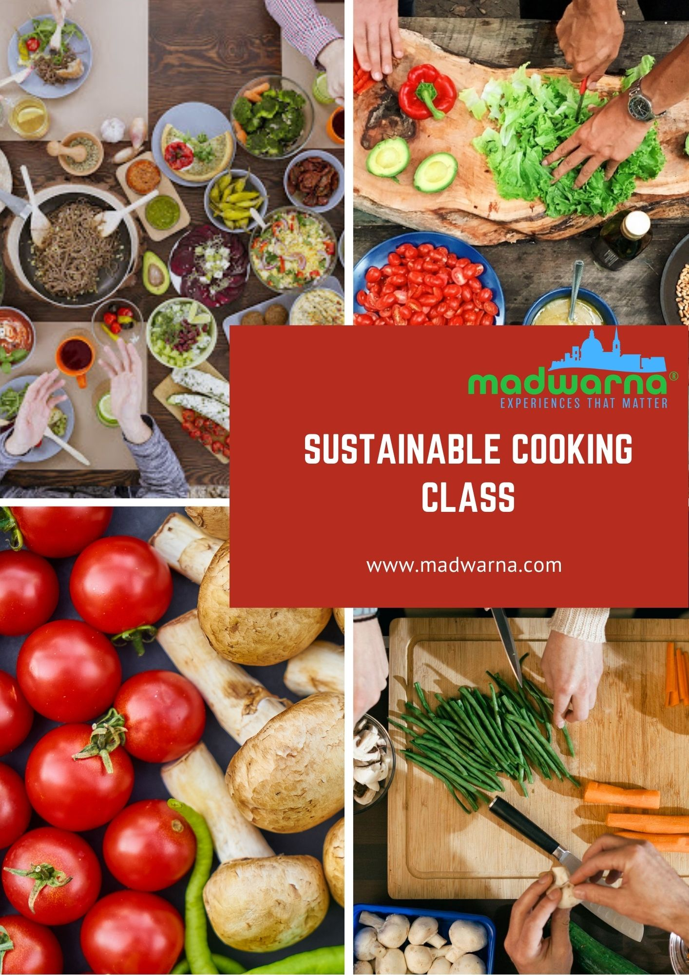 Sustainable cooking class poster