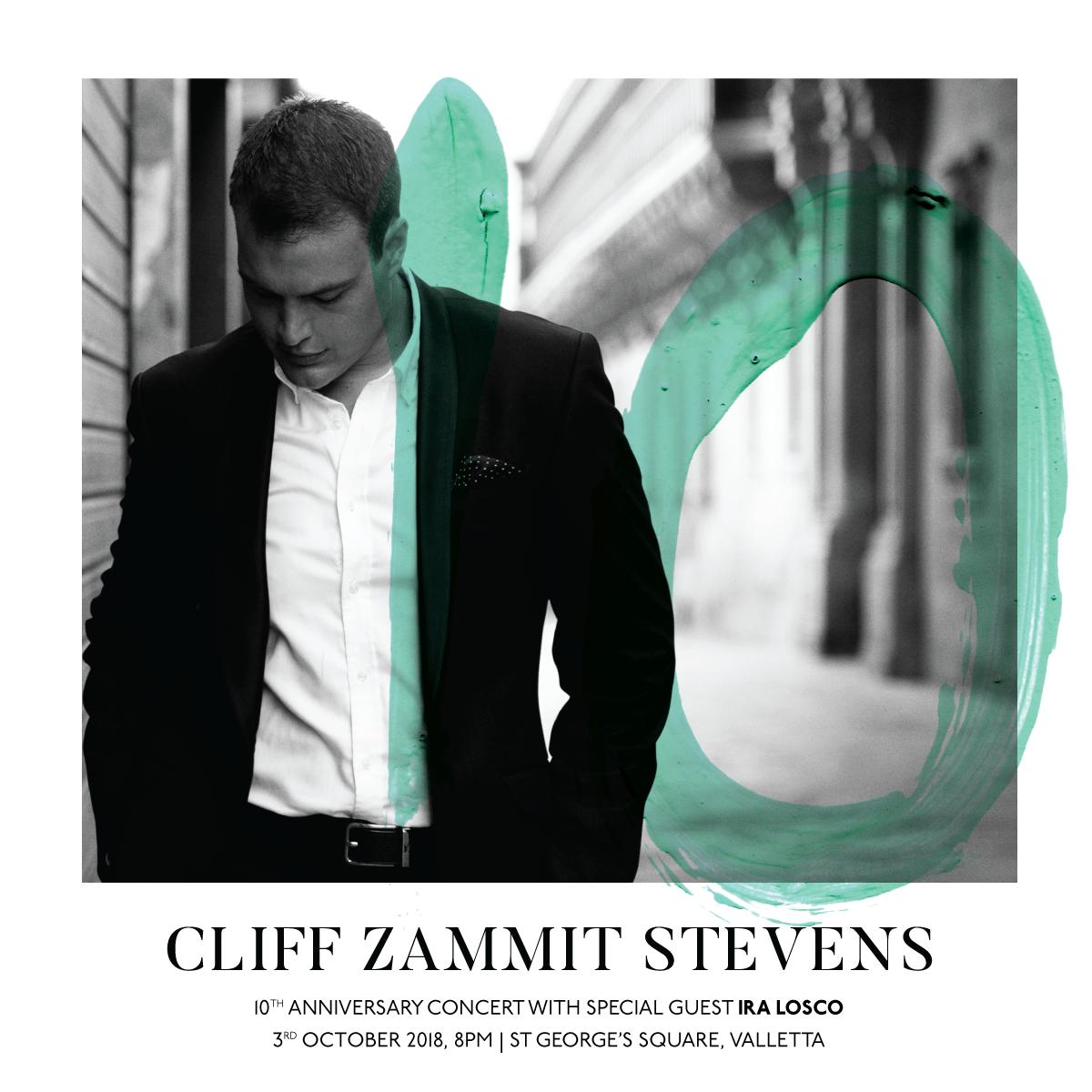 Cliff Zammit Stevens 10 Year Anniversary Concert flyer