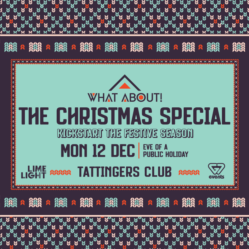 WHAT ABOUT! THE CHRISTMAS SPECIAL flyer