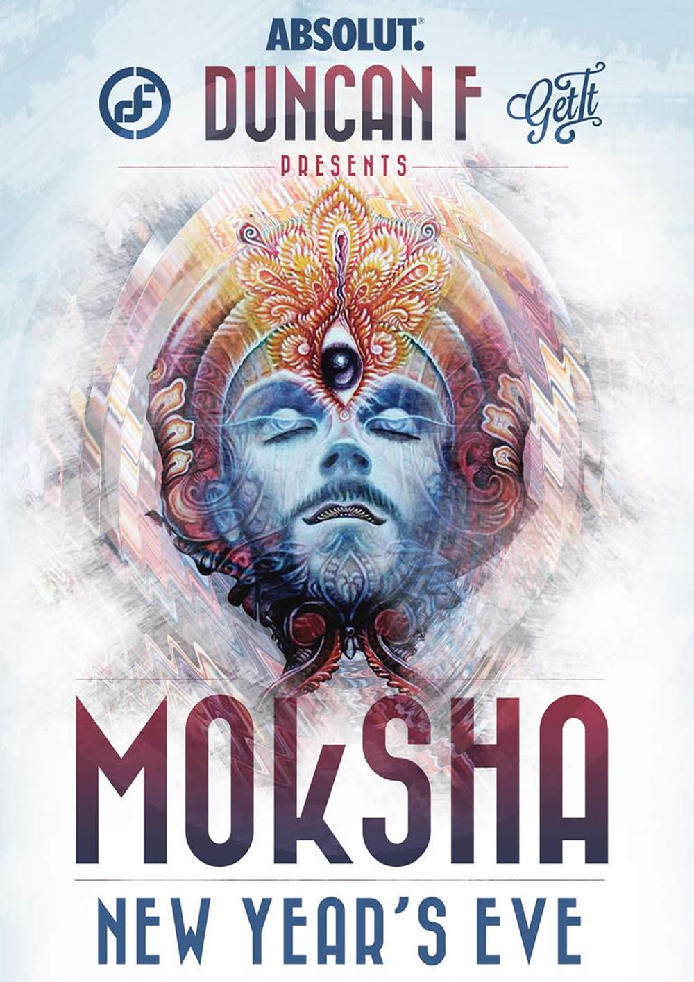 MOkSHA - New Year's Eve by Duncan F & GET it flyer