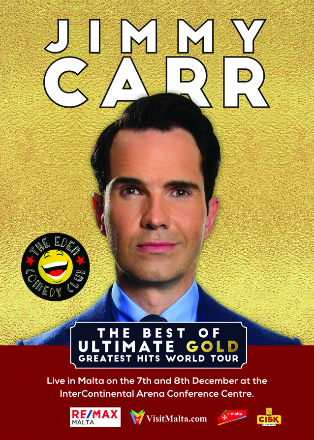 Jimmy Carr - The Best Of, Ultimate, Gold, Greatest Hits World Tour flyer