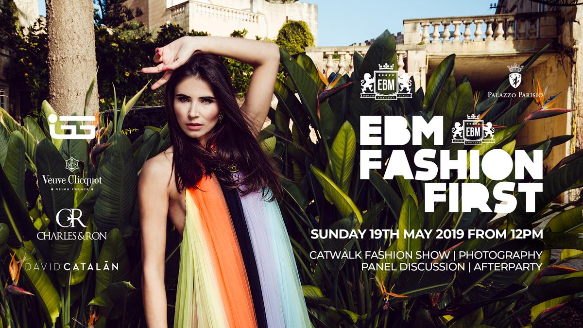 EBM Fashion First at Palazzo Parisio flyer