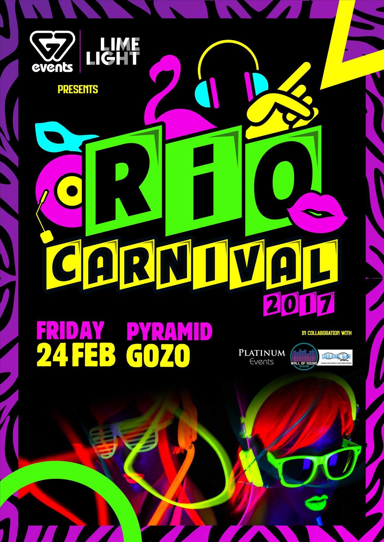 RIO CARNIVAL, GOZO 24.02.17 flyer