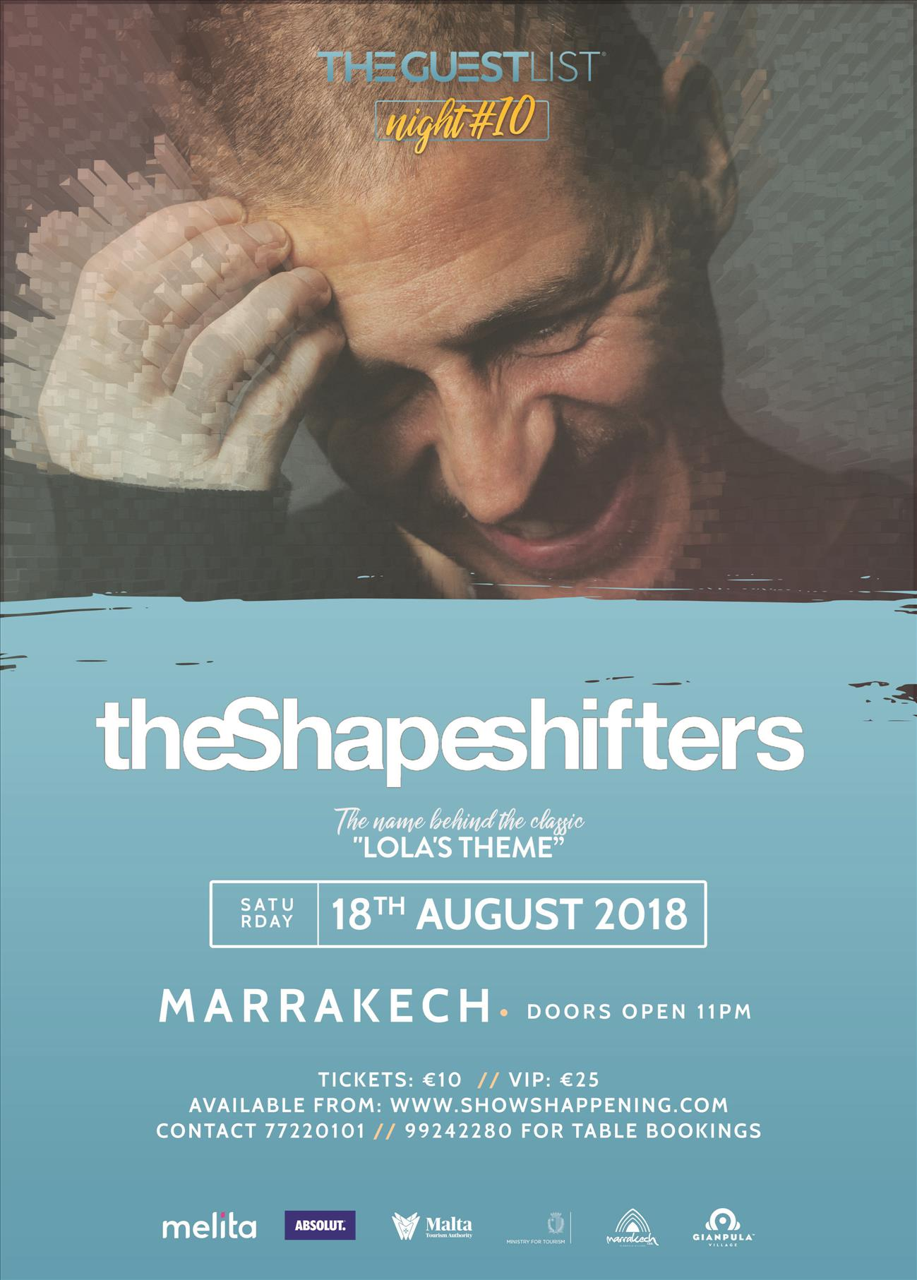 THE SHAPESHIFTERS - 18/08/2018 - MARRAKECH CLUB