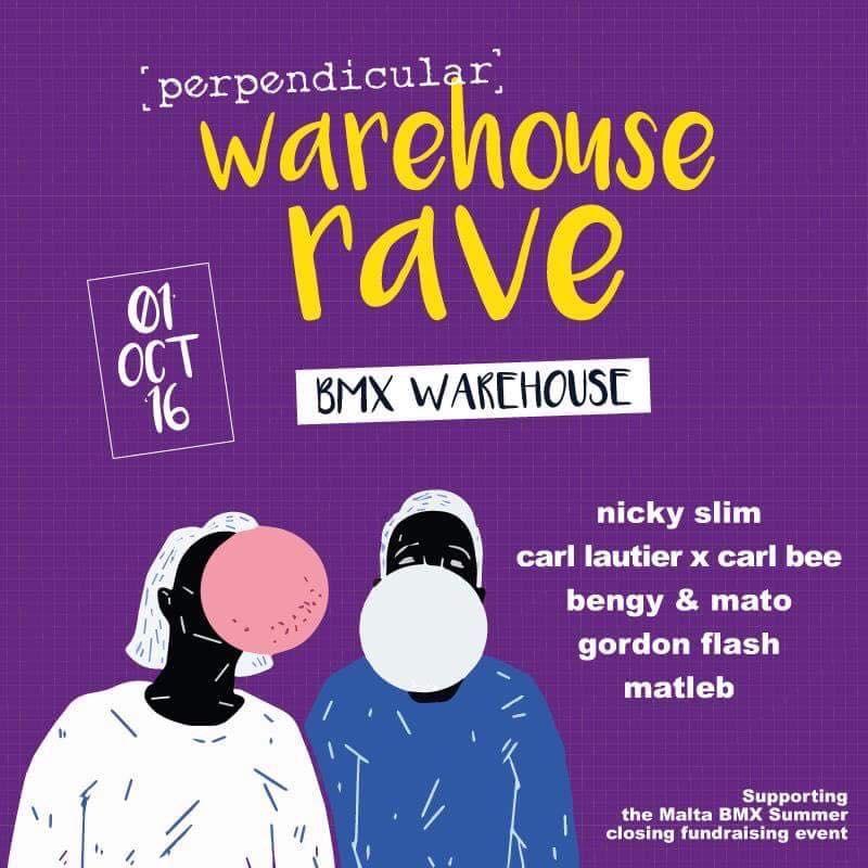 p e r p e n d i c u l a r - Warehouse rave flyer