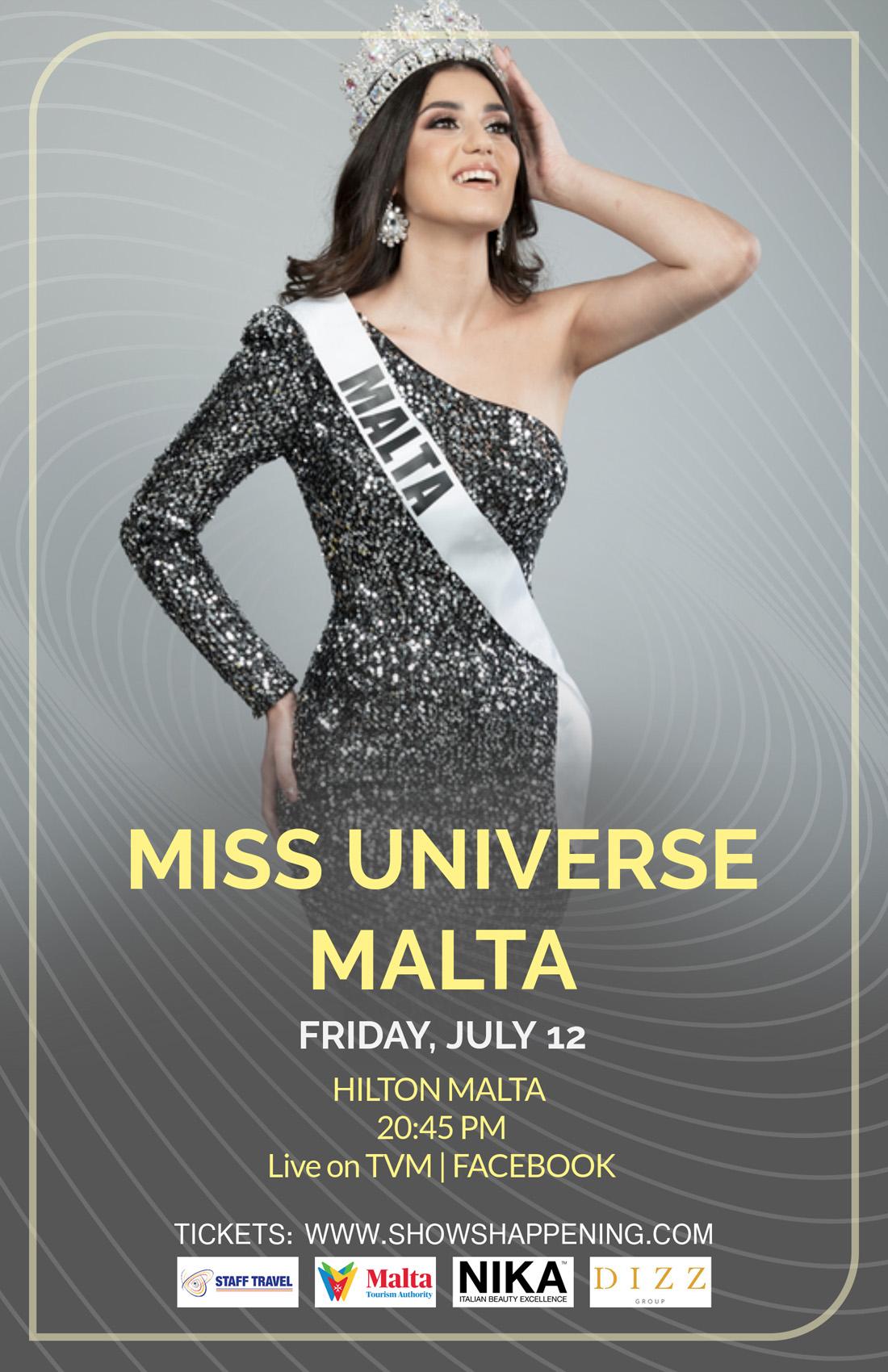 Miss Universe Malta 2019 flyer