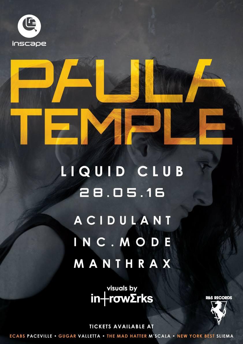 Inscape ft. Paula Temple - Hybrid DJ/Live Set flyer
