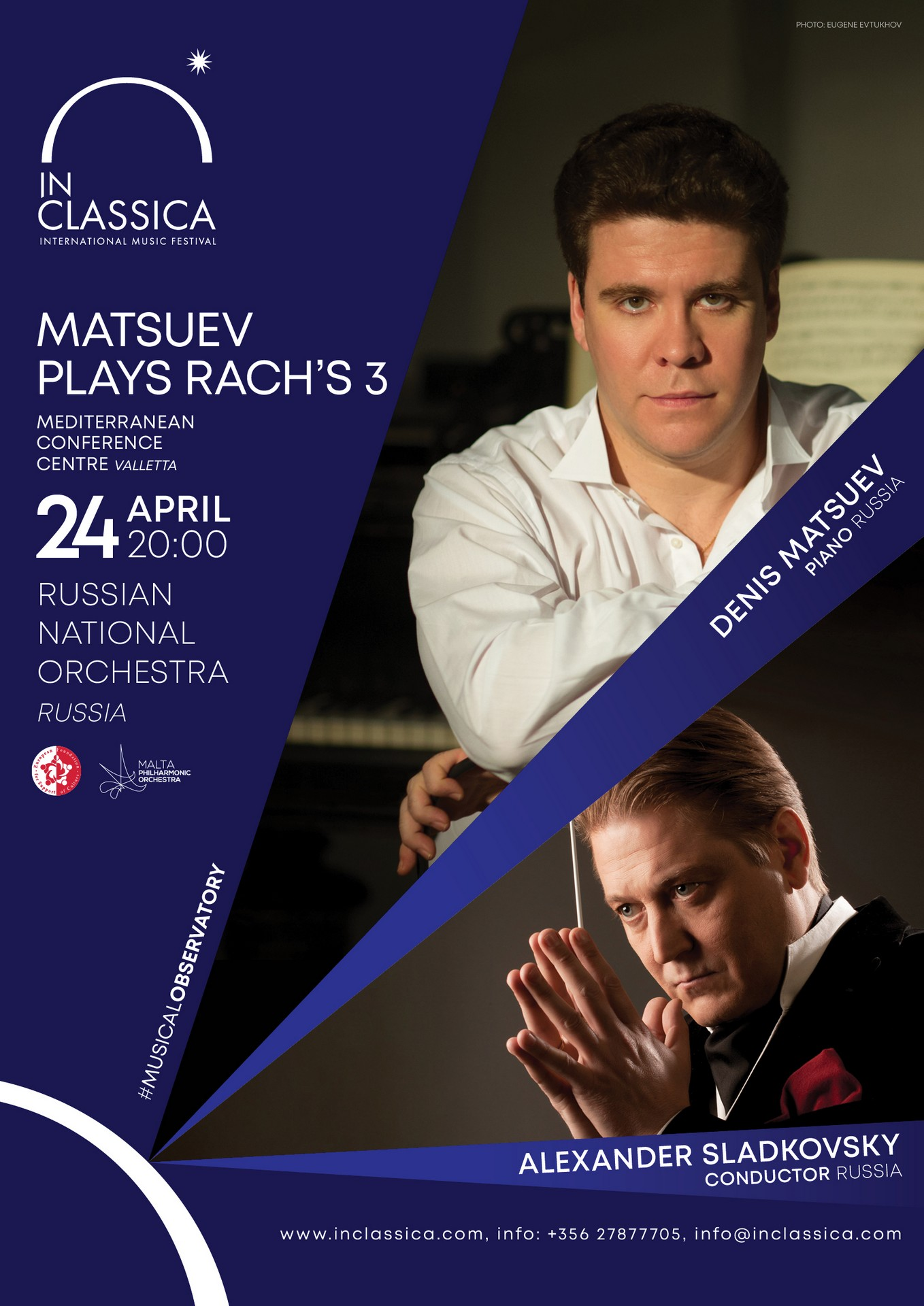 MATSUEV PLAYS RACH'S 3 flyer