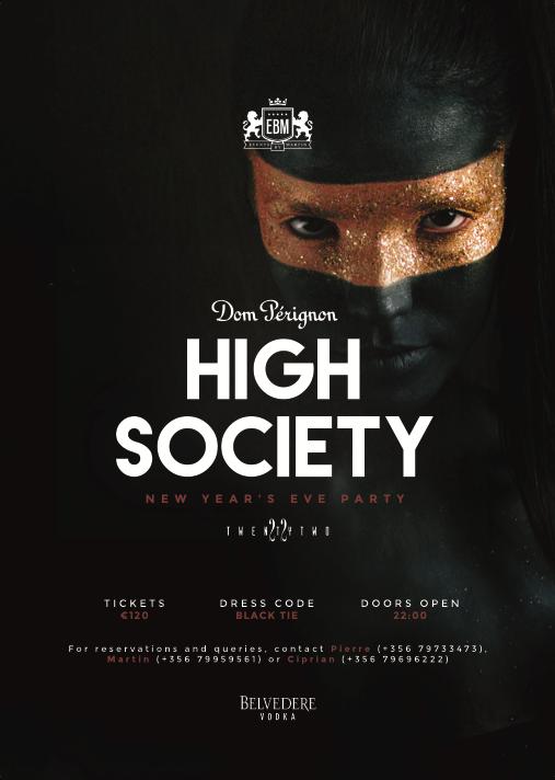 New Year's Eve 2017 - Dom Pérignon High Society flyer