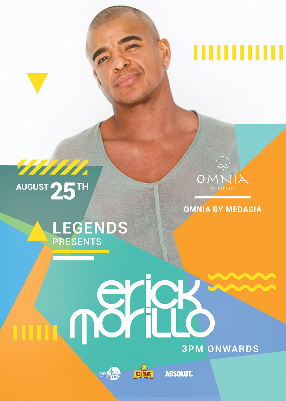 Erick Morillo - Legends at Omnia by MedAsia flyer