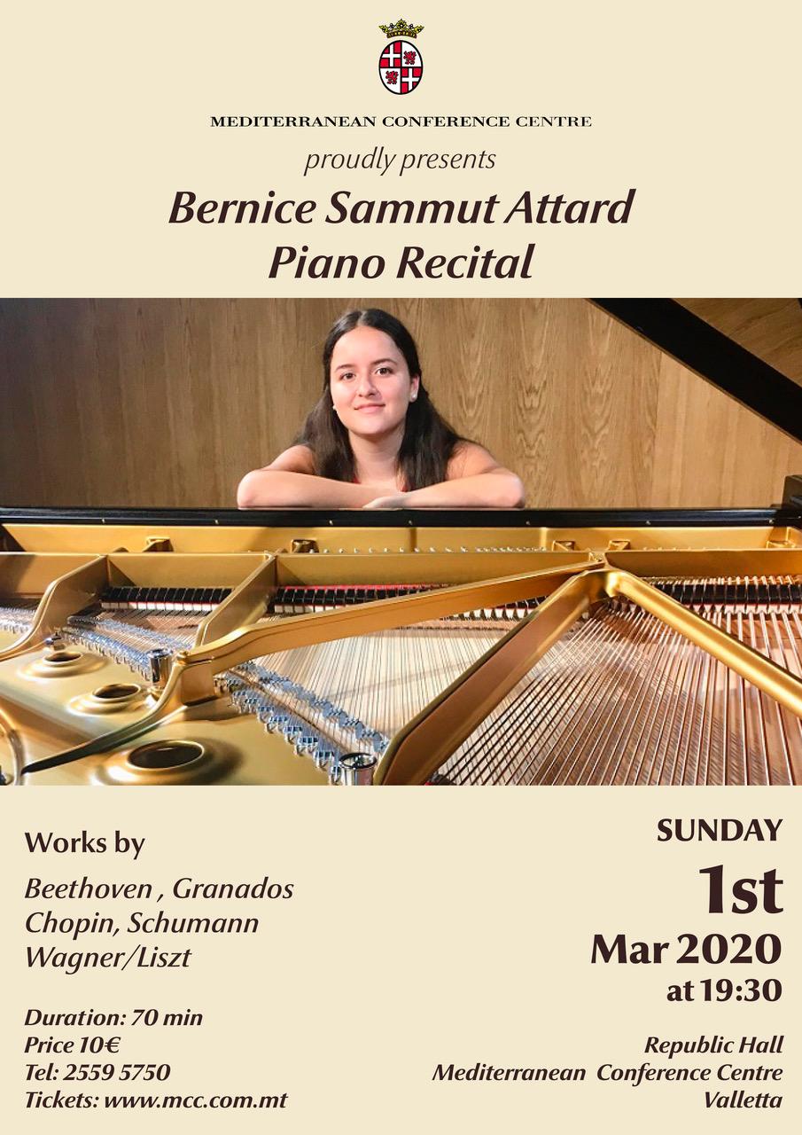 Bernice Sammut Attard Piano Recital flyer