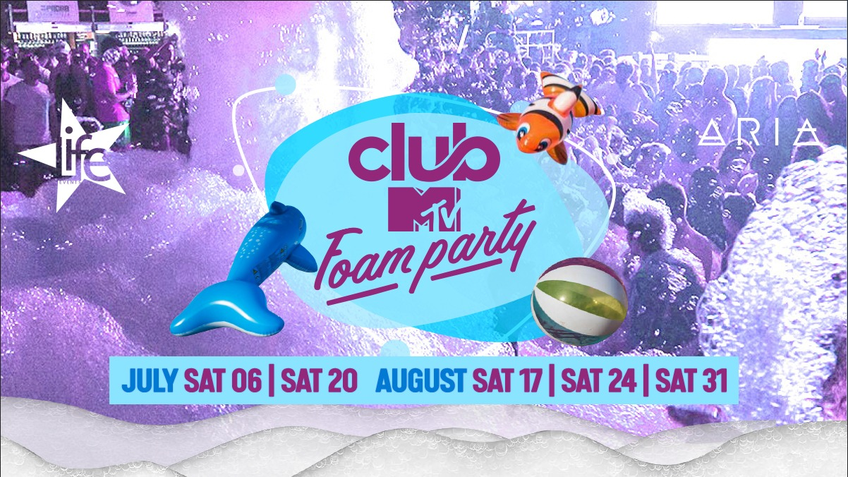 Club MTV Foam Party by Life Events flyer