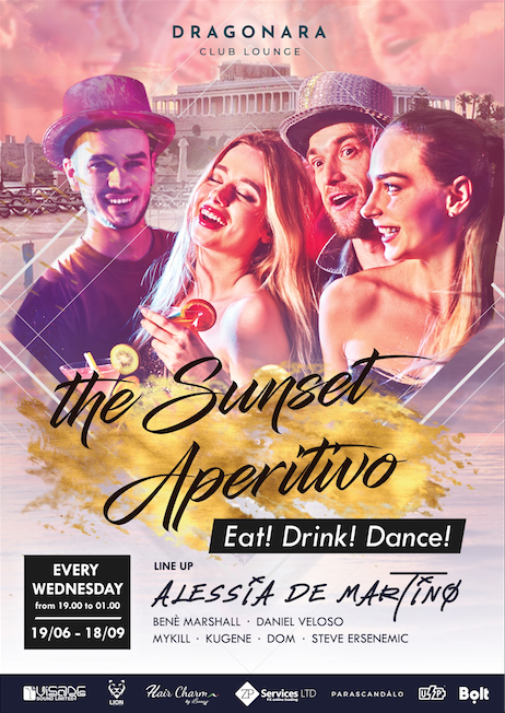 The Sunset Aperitivo flyer