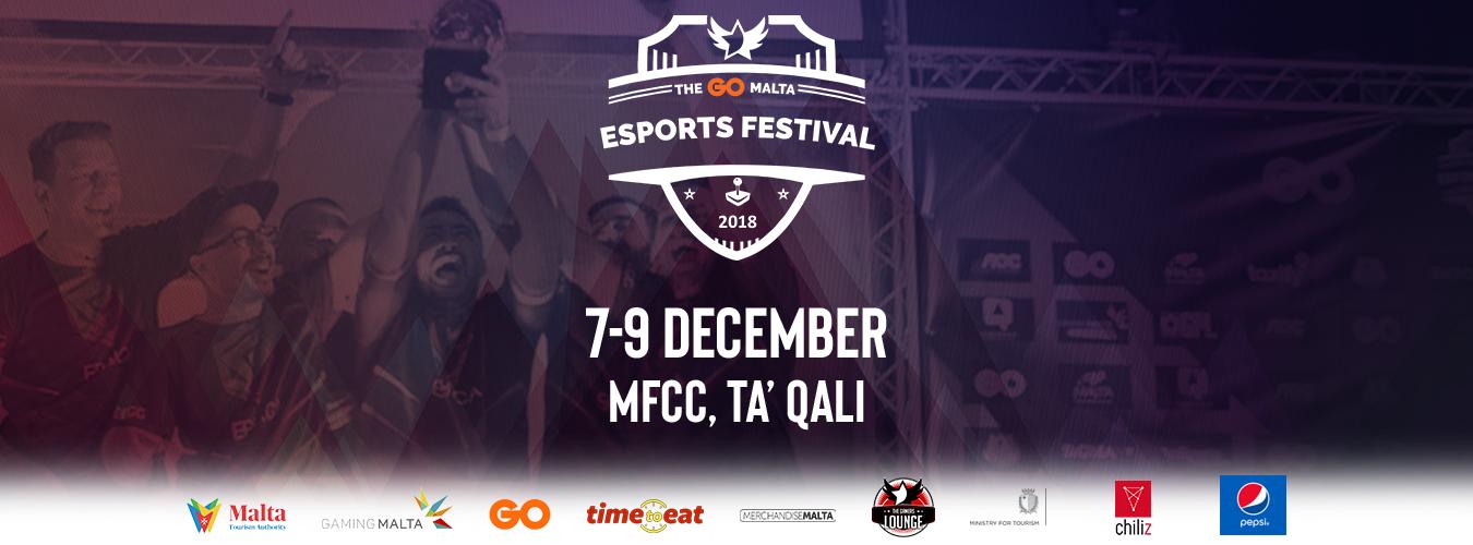 The GO Malta Esports Festival 2018 flyer