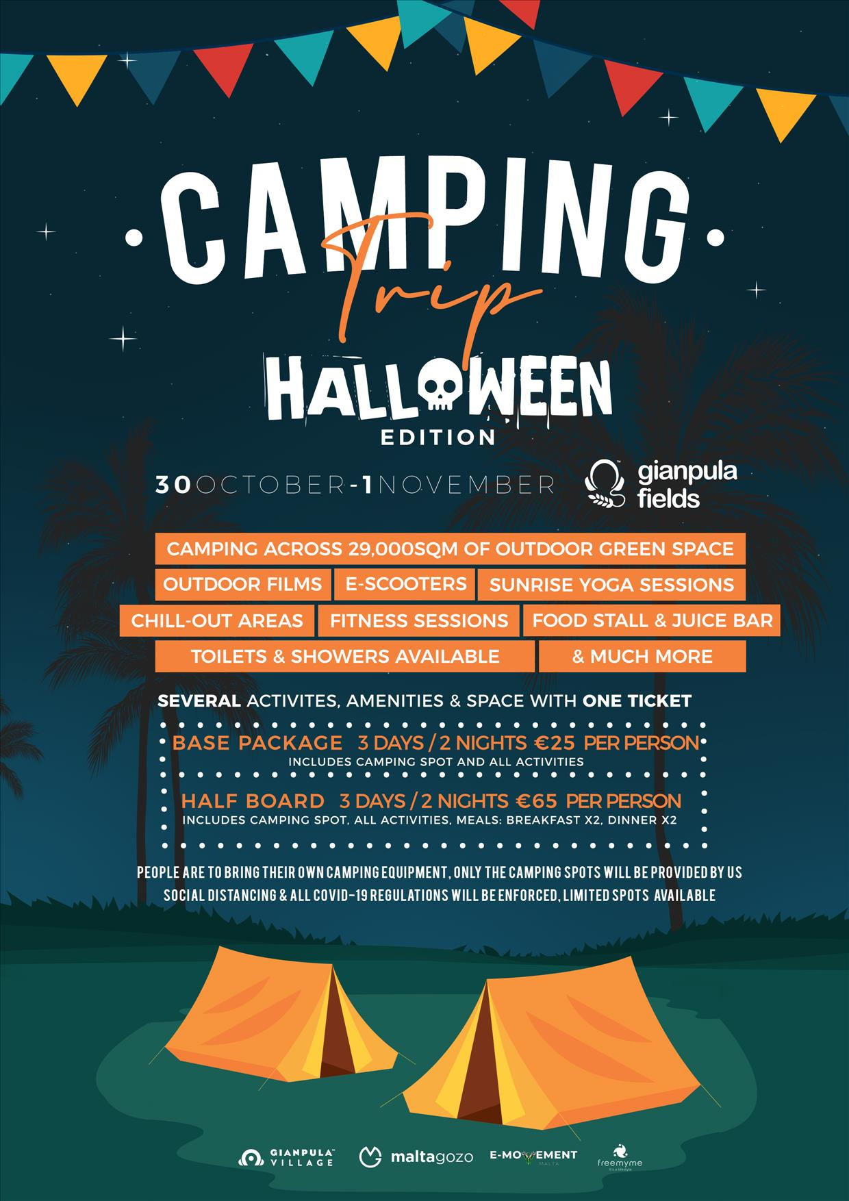 Camping Trip Halloween Edition flyer