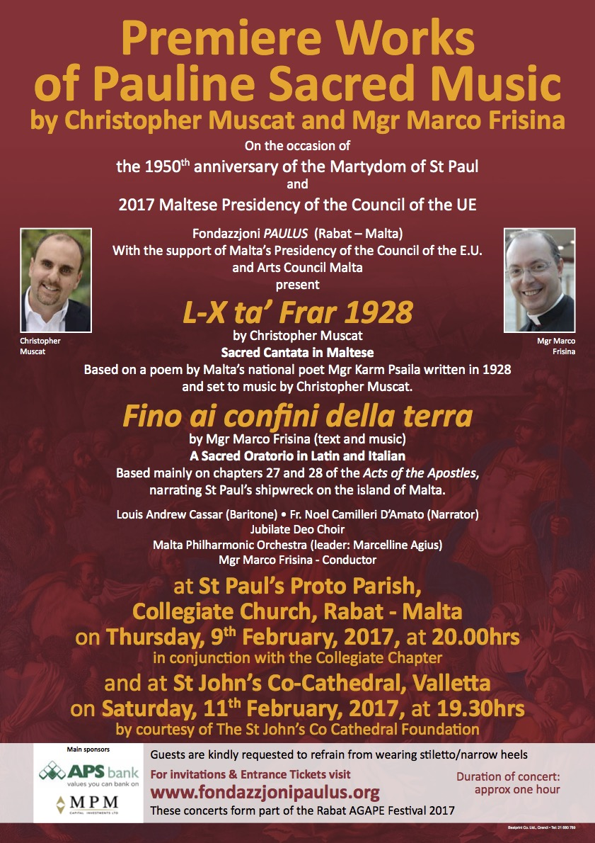Christopher Muscat & Mgr. Marco Frisina Concert flyer