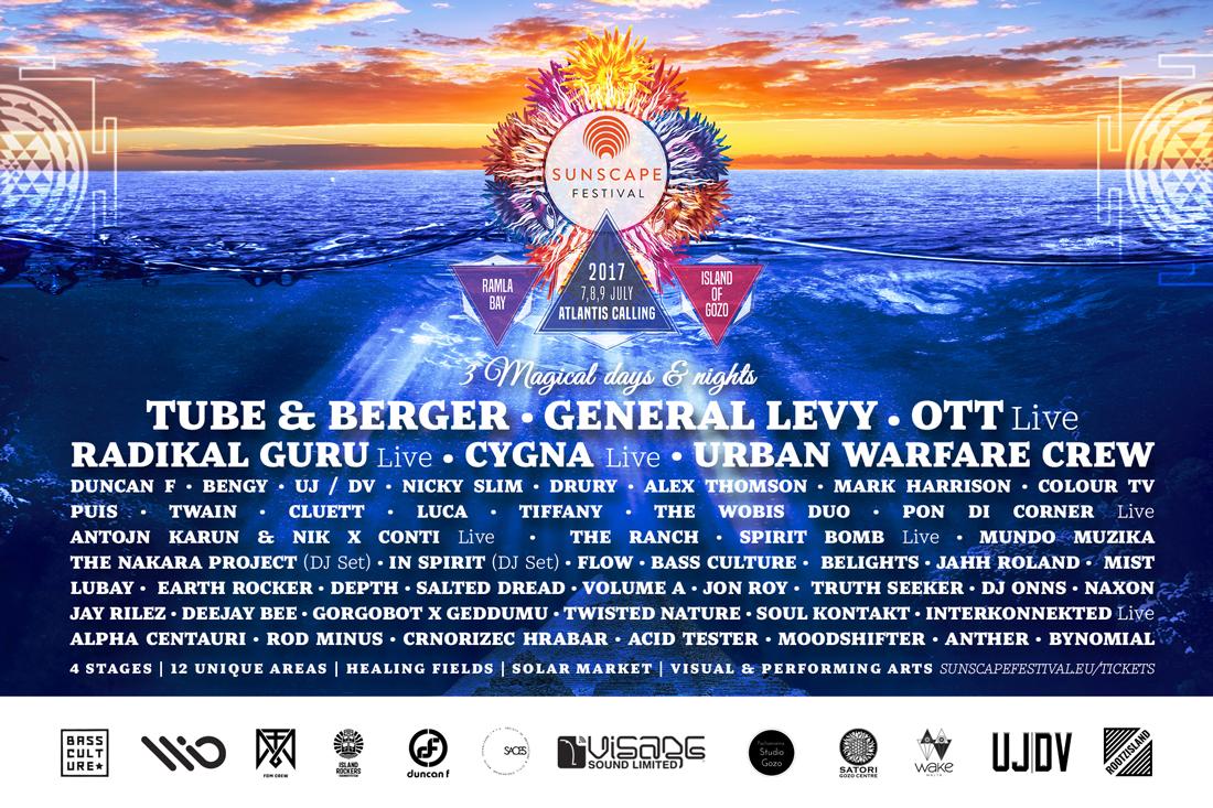 Sunscape Festival 2017: Atlantis Calling flyer