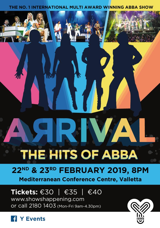 ABBA Arrival flyer