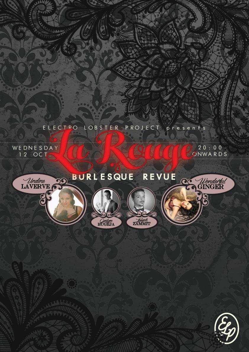 La ROUGE Burlesque Revue flyer