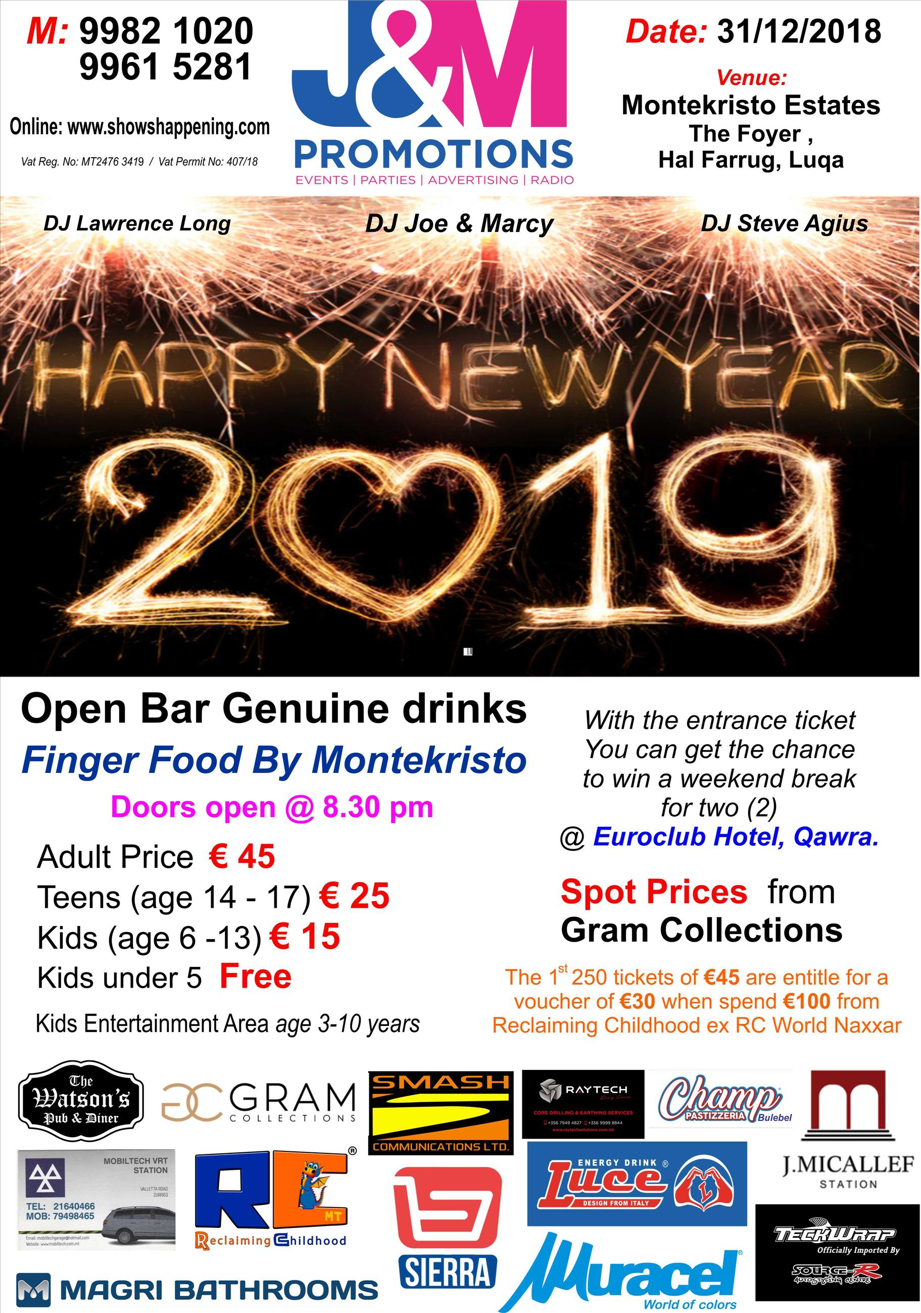 J & M Promotions New Year's Eve Party flyer