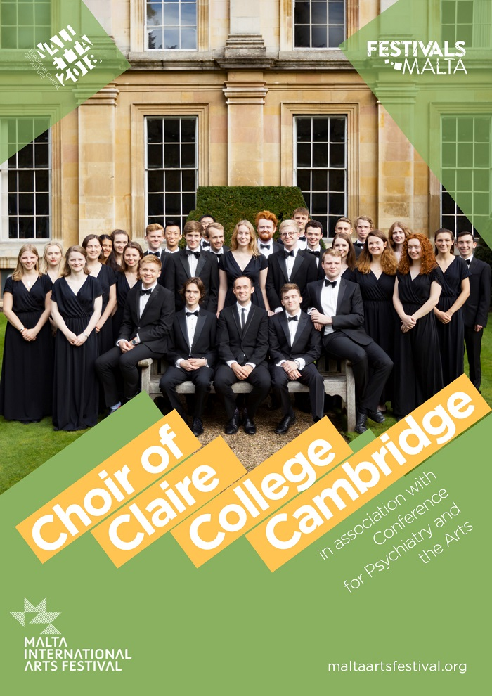 Clare College: Choir of Clare College Cambridge flyer
