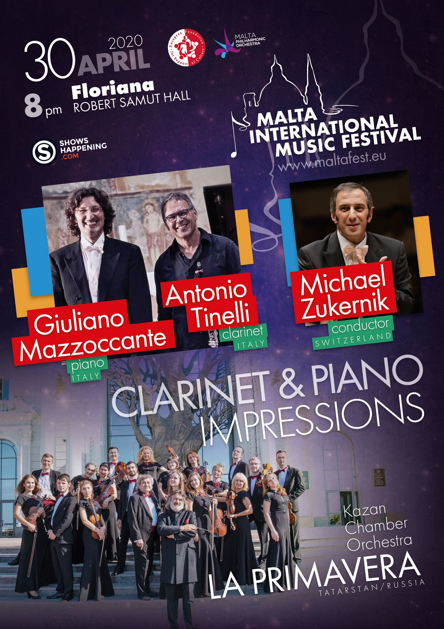 CLARINET & PIANO IMPRESSIONS flyer