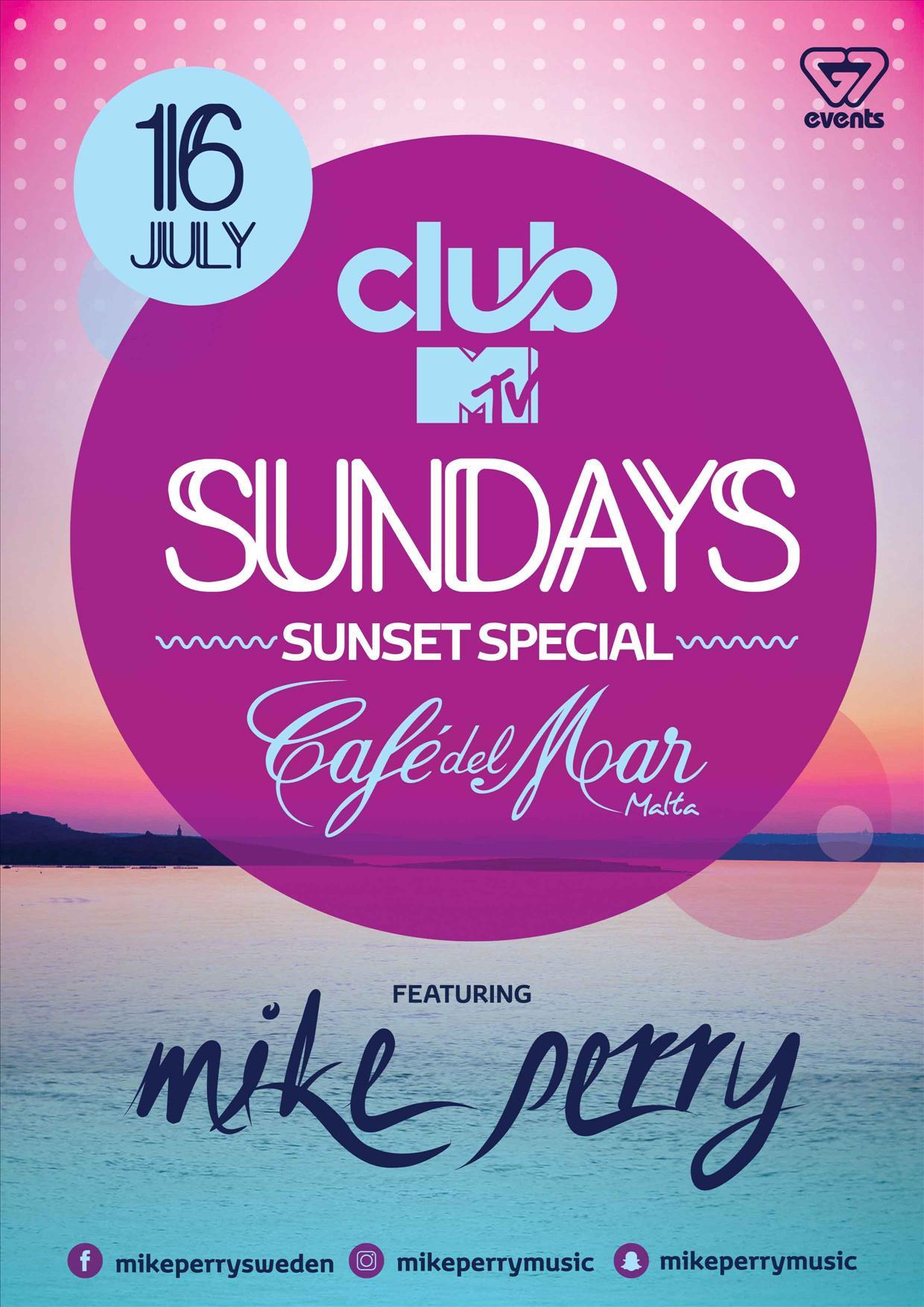 Club MTV Sundays present MIKE PERRY flyer