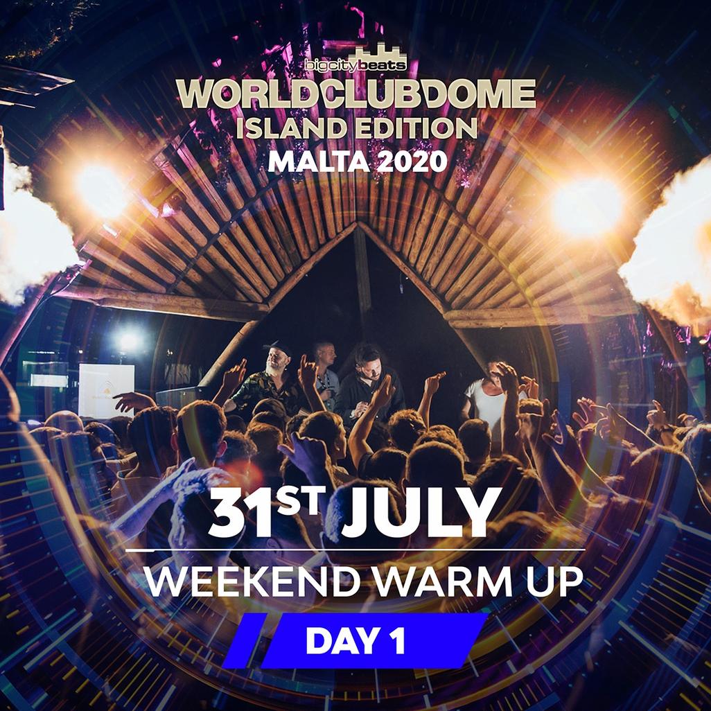 WORLD CLUB DOME ISLAND EDITION 2020 - DAY 1 CLUB TICKET - WEEKEND WARMUP flyer