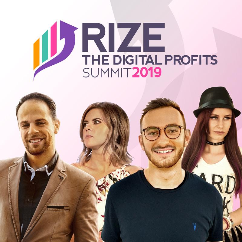 RIZE - The Digital Profits Summit 2019 flyer