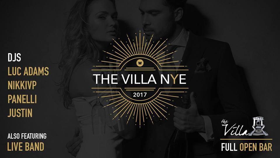 The Villa NYE 2017 flyer