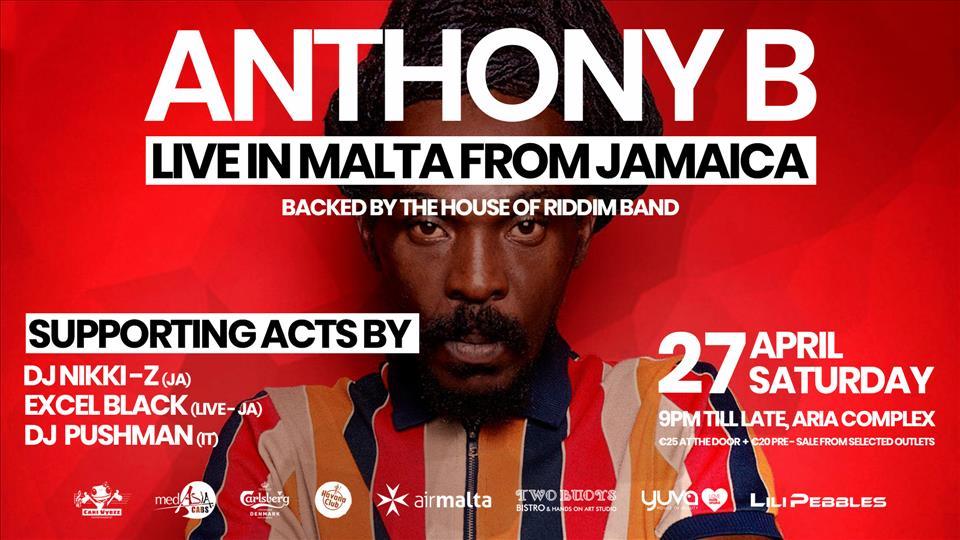 Anthony B live in Malta flyer