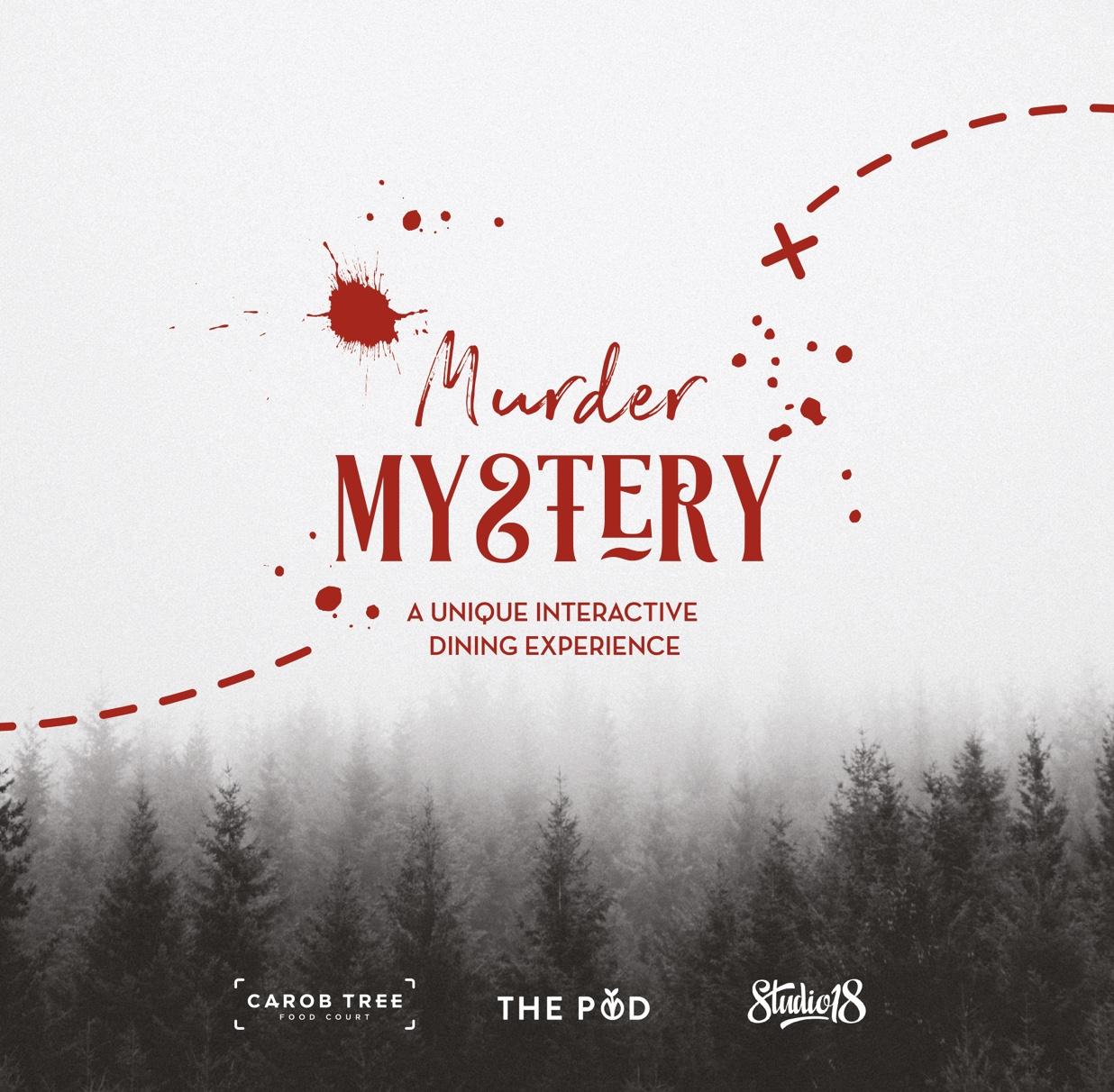 Carob Tree's Murder Mystery flyer
