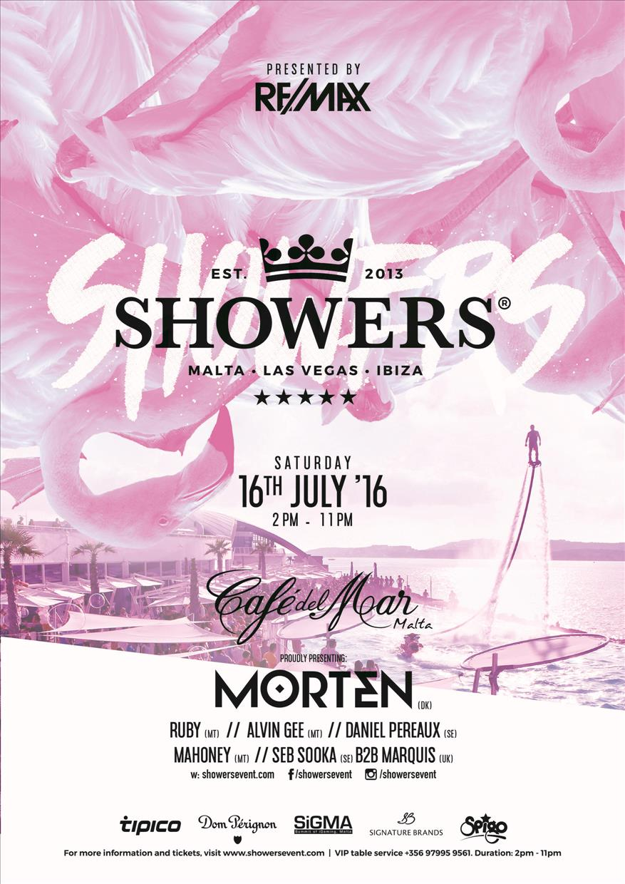 Showers: Malta - Presented by RE/MAX flyer