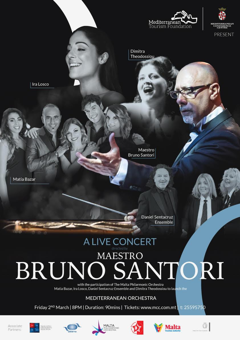 Mediterranean Orchestra - A Live Concert - Directed By Maestro Bruno Santori flyer