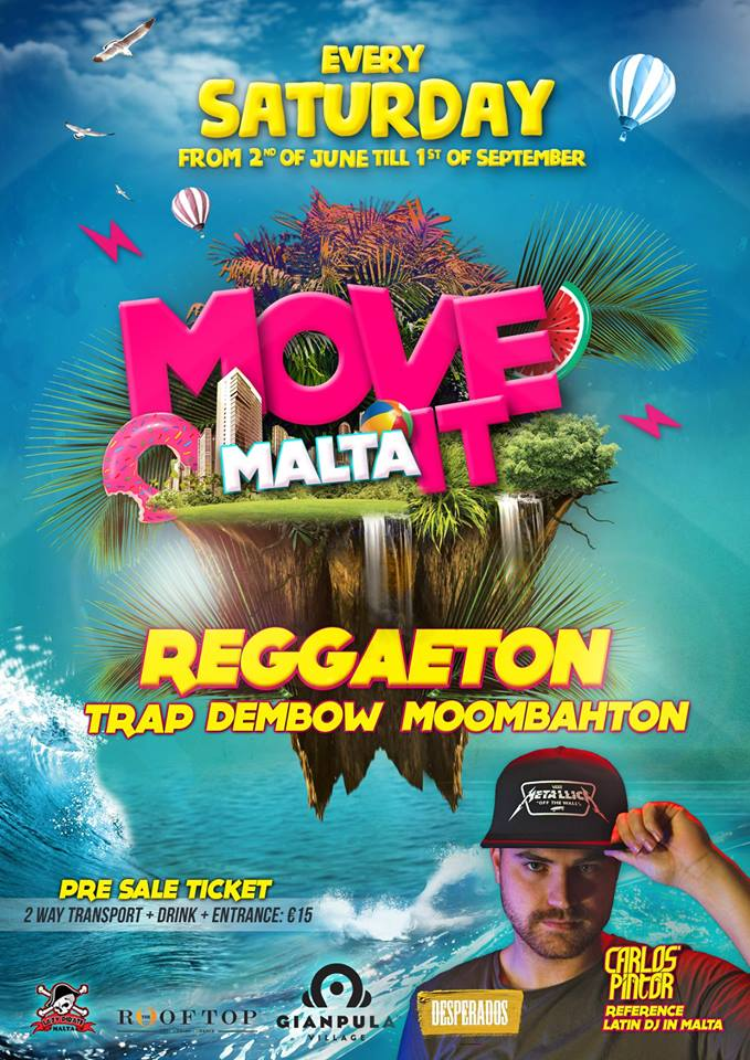 Move It Malta 2018 flyer