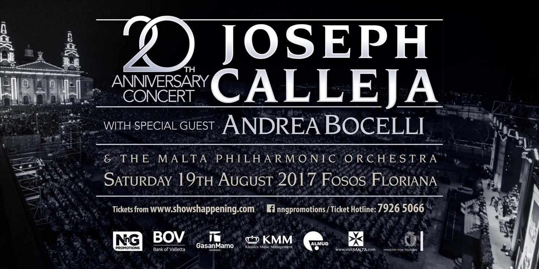 Joseph Calleja 20th Anniversary Concert flyer