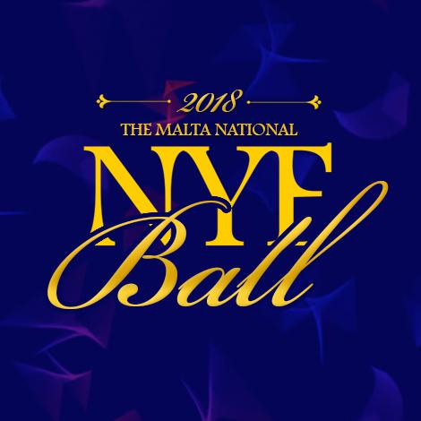 The Malta National NYE Ball 2018 flyer