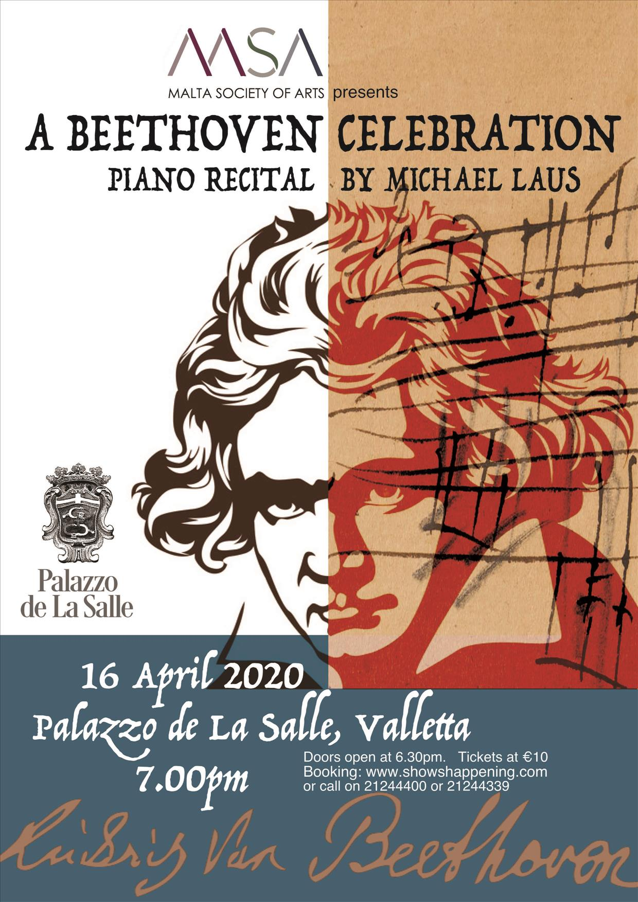 A Beethoven Celebration - Piano Recital by Michael Laus flyer