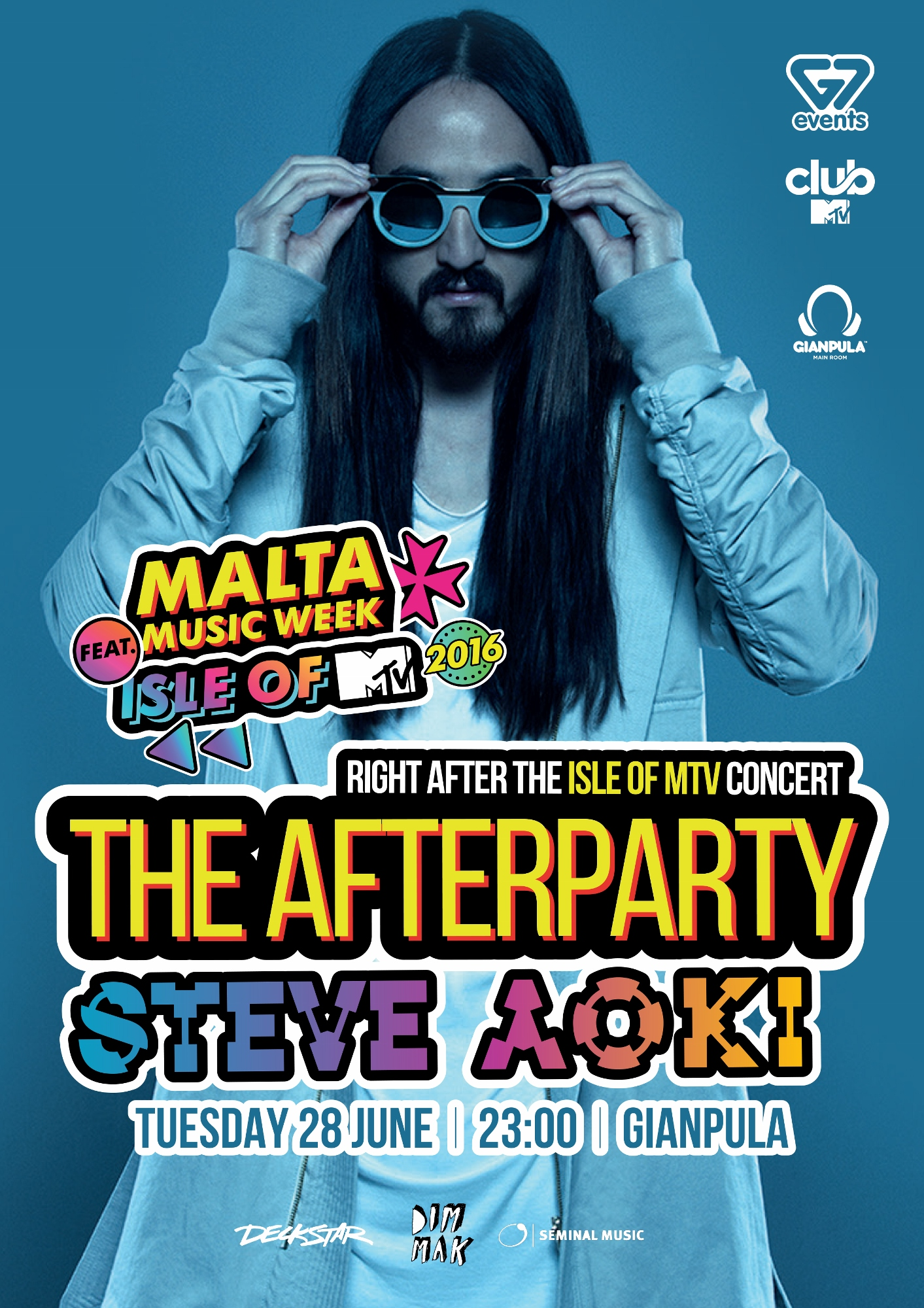 The Official ISLE OF MTV Afterparty ft. STEVE AOKI flyer