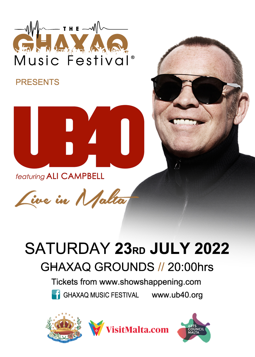 UB40 Live in Malta flyer