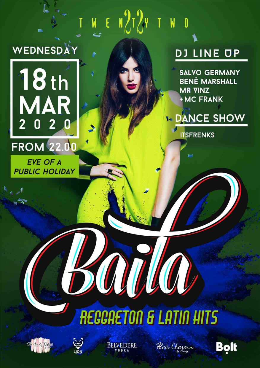 Baila at Club TwentyTwo!
