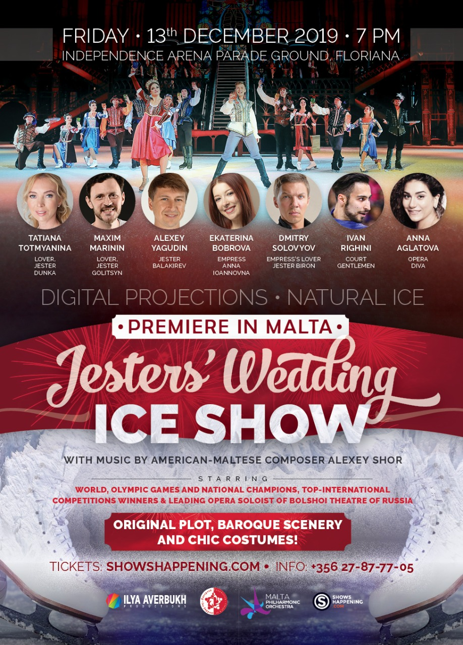 First ever ICE SHOW in Malta -Jester's Wedding flyer