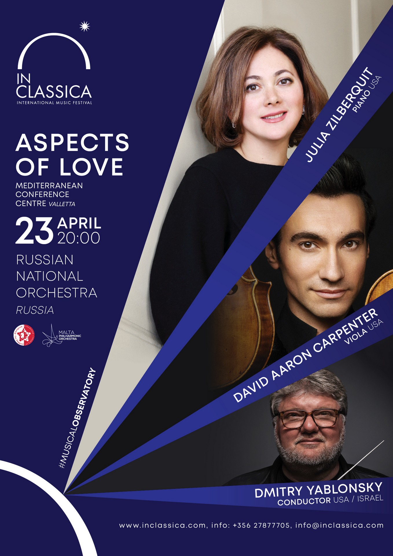 InClassica: ASPECTS OF LOVE flyer